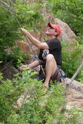 Rock Climbing Photo: Mike belaying Meade on 10-til-4