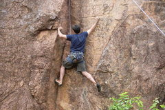 Rock Climbing Photo: Meade showing us the 2nd move on 10-til-4.