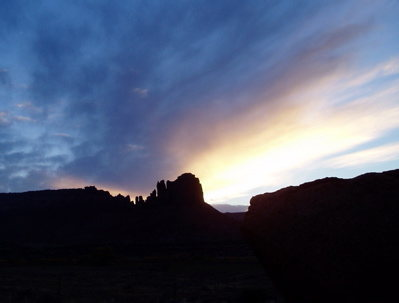 Sunset over Bridger Jack Mesa<br>
