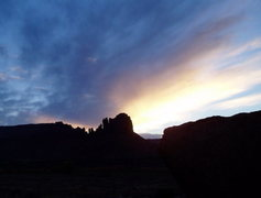 Rock Climbing Photo: Sunset over Bridger Jack Mesa