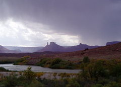 Rock Climbing Photo: Storm over Castle Valley