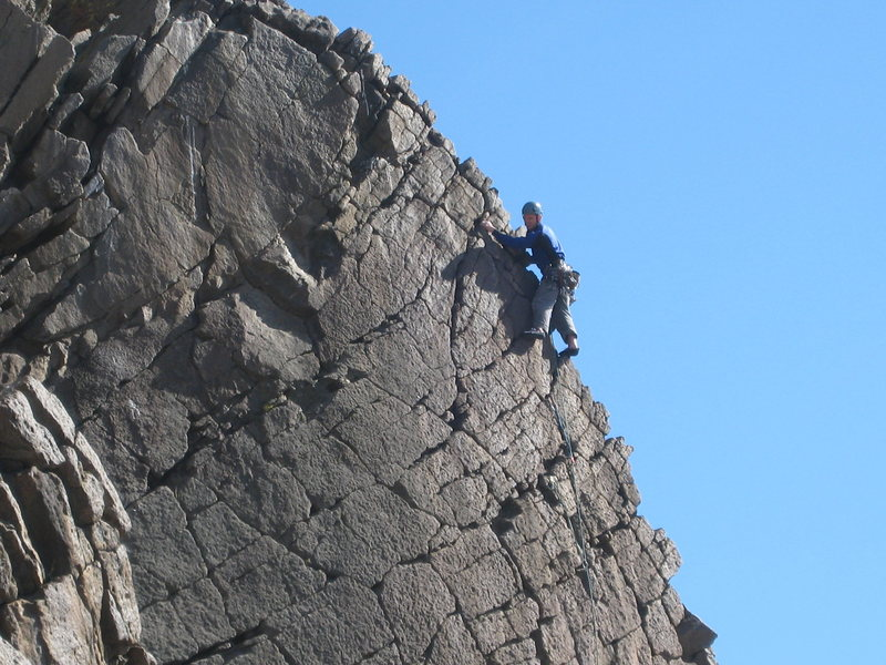 Rock Climbing Photo: Route may be either Hanz Solo or Au-Natural.    Ap...