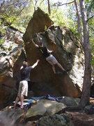 Rock Climbing Photo: Josh staying out past curfew.