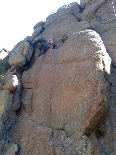me somewhere by Lyons off the highway. First climb in 08'.