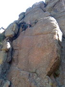 Rock Climbing Photo: me somewhere by Lyons off the highway. First climb...