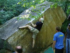 Rock Climbing Photo: Ryan squeezing.