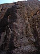 Rock Climbing Photo: Straight up the black streak.  Don't worry, the ge...