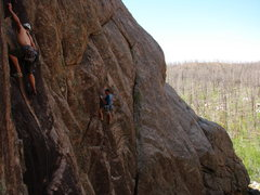 Rock Climbing Photo: ORACLE on left, Shu man to the right on CRYSTAL BA...