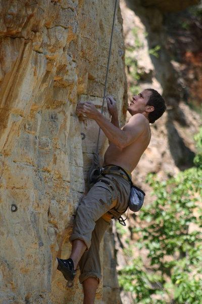 Rock Climbing Photo: AJ on Pork Tornado