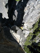 Rock Climbing Photo: Looking down at the notch between Arrowhead Spire ...