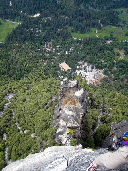 Rock Climbing Photo: View of the Spire from Arrowhead Arete.