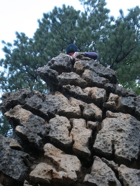Rock Climbing Photo: Hanging out at the top of the brain.