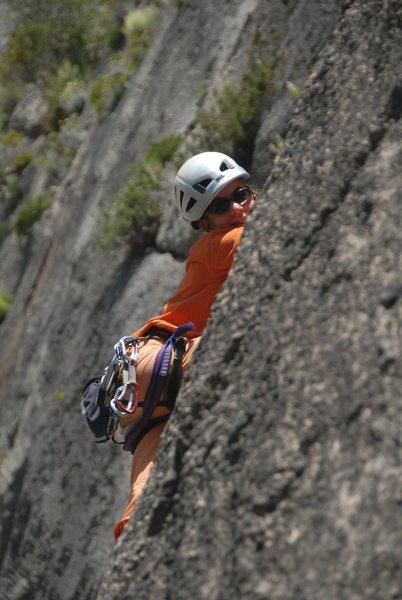 Rock Climbing Photo: Cecile leading a 5.10