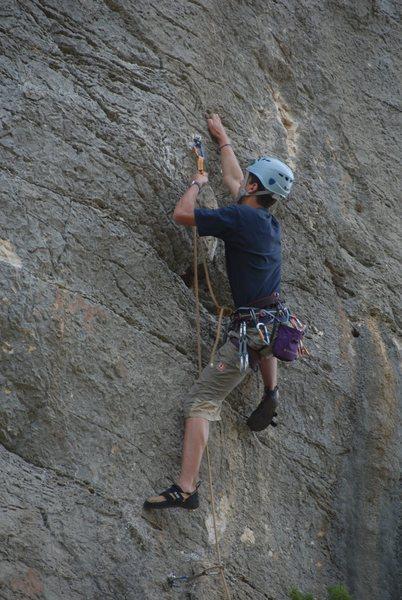 Rock Climbing Photo: Claudio in a 5.11 in Bucchi Arta
