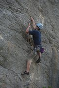 Rock Climbing Photo: Claudio in a 5.11 in Bucchi Arta
