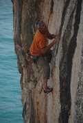 Rock Climbing Photo: one pitch 5.11 right over the water