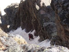 Rock Climbing Photo: Looking down P4 from the belay.