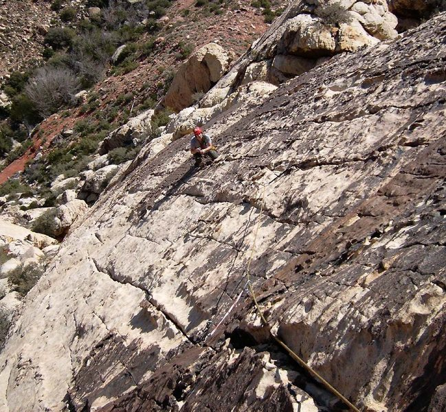 Rock Climbing Photo: Pleasant slab climbing just below the varnished he...