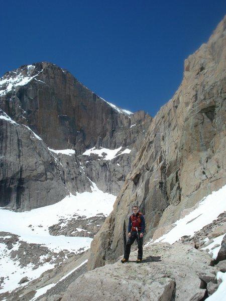 Me above Chasm lake at the base of Martha's