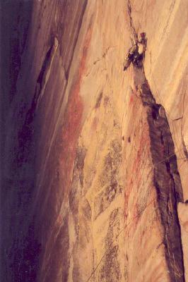 "Rock Climbing Photo: 12th pitch bivi of ""zenith"" VI A4 half d..."