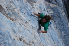 Rock Climbing Photo: maldito lunes 12b fin de semama wall...one of the ...