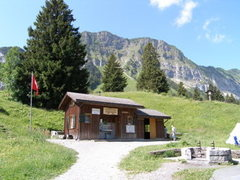 Rock Climbing Photo: We camped in the meadow outside the hut (called Ma...