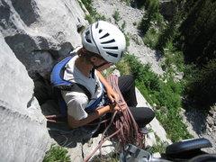 Rock Climbing Photo: climbing on the Brüggler