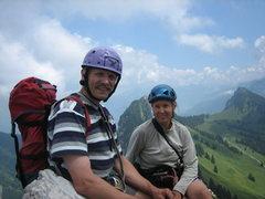 Rock Climbing Photo: On the Brüggler summit