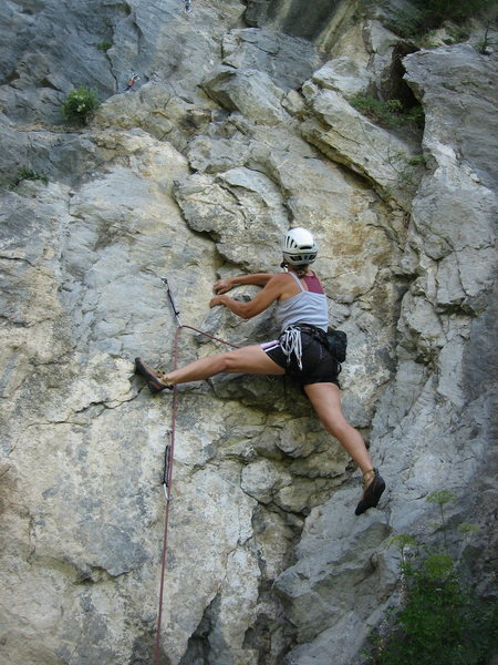 sport climbing at the Gallerie