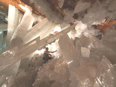 Rock Climbing Photo: Crystals in cave
