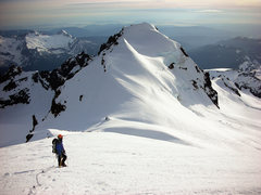 Rock Climbing Photo: Descending Coleman-Deming route in the late aftern...