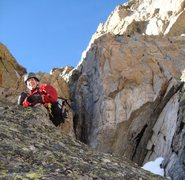 Rock Climbing Photo: Erik smiling and having fun on the route.  Just be...