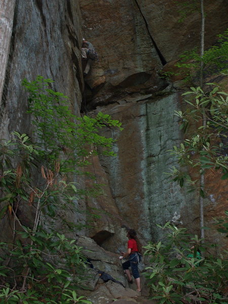 Rock Climbing Photo: Be on my second attempt to lead Brontosaurus
