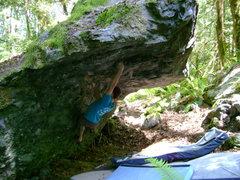 Rock Climbing Photo: Brock Tilling on Ingenious Machine of Man V10