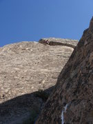 Rock Climbing Photo: Mike Williams leading the second pitch.