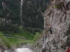 Rock Climbing Photo: Maybird Slide Area, The Purple Wall.  June and sti...