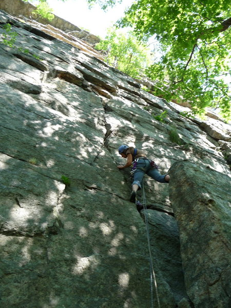 Rock Climbing Photo: Bloody Mary follows the crack behind the large blo...