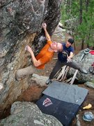 Rock Climbing Photo: Scoping for the next hold...