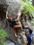 Rock Climbing Photo: Jay dry humping the buffalo.