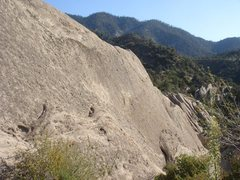 Rock Climbing Photo: Wallbanger Wall as seen from the walk-off for VD W...