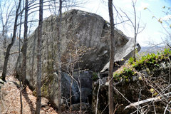 Rock Climbing Photo: This is the slab boulder as you approach it.  The ...