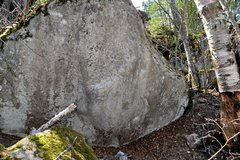 Rock Climbing Photo: One big giant jump to a sorta good hold, then top ...