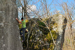 Rock Climbing Photo: The right arete of the Absolution boulder