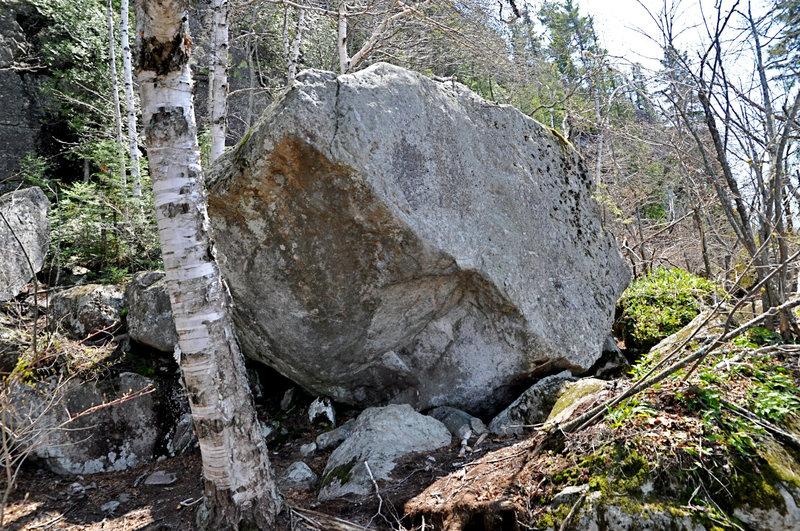 climbable Buddha Boulder