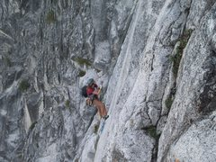 Rock Climbing Photo: Brandi on the jugs for the Robbins bolt ladder dur...