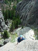 Rock Climbing Photo: Jay coming up the Eyetooth.  May 09.