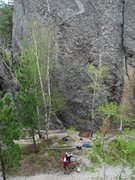 Rock Climbing Photo: Where did the guidebook say to go again?  The righ...