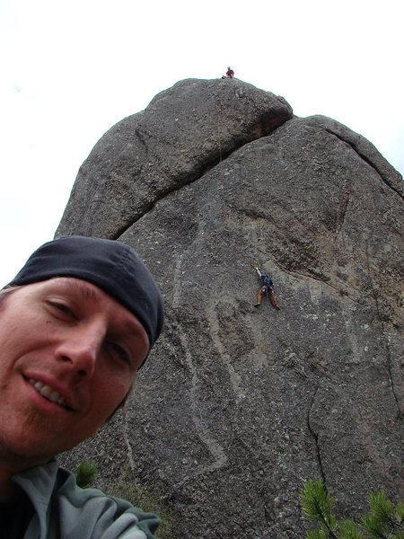 Rock Climbing Photo: Goofball Aaron Costello, with Jay following Mr. Cr...