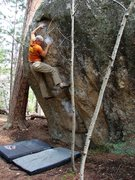 Rock Climbing Photo: On Orange Roughy, great problem!  May 09.