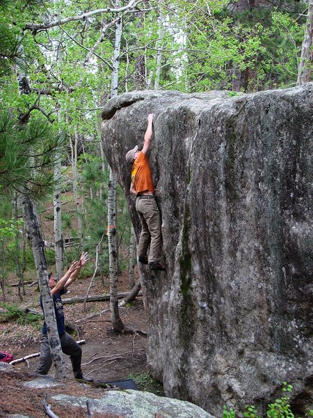 Rock Climbing Photo: Bad beta, but hey, if bad beta gets you to the top...